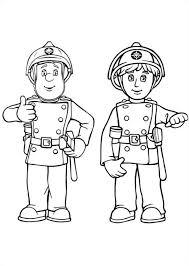 Sam De Brandweerman Kleurplaat