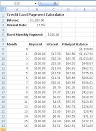 Monthly Payment Sheet How To Create A Credit Card Payment Calculator