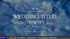 Wedding Title Wedding Titles Download Free After Effects Projectss