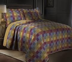 monaco vintage rustic patchwork 100 cotton quilt set bedspreads quilts