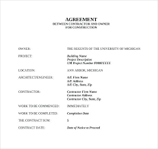 Contract Agreement Template Between Two Parties Payment Agreement Template Between Two Parties Free Letter