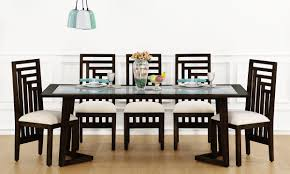 8 seater dining table design with glass top tables