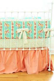 peach crib bedding baby mint and hope chest set by on peach crib bedding and mint