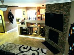 faux stone veneer fireplace s panels over brick