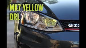 2015 Vw Gti Daytime Running Lights Mk7 Yellow Drl Install 2016 Gti