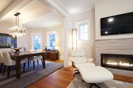 fireplace without mantle family room modern with marble tile