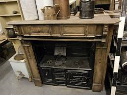 0061040 victorian cast iron kitchen range with wooden surround h 177cm x 190 x 76 cad stockyard prop and backdrop hire