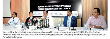 rtsl president describes rtiwm in sl as a vote of confidence in country s rapidly developing tourism