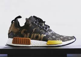 louis vuitton x adidas. have you ever wondered what an adidas nmd would look like if the three stripes linked up with fashion and style icons supreme louis vuitton? vuitton x