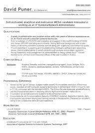 Resume Examples For Military