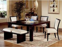dining room bench seating: dining room bench in modern theme made of wood and two white seats made of