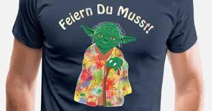 Meister Yoda Feiern Du Musst Hell Männer Premium T Shirt Spreadshirt