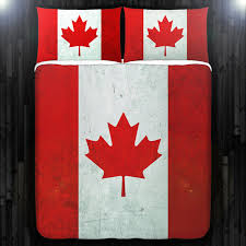 red maple leaf canada flag bedding duvet cover queen comforter king twin xl size blanket sheet set baby crib toddler daybed kids bed