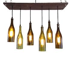 wine bottle chandelier drinks ng