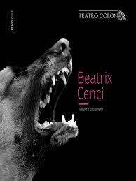 Programa Beatrix Cenci teatro colón | Ópera | Música vocal
