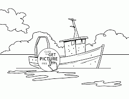 Small Picture Realistic Fishing Boat coloring page for kids transportation