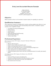 Luxury Accounting Resume Examples Entry Level Mailing Format