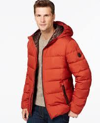 379 michael kors men s orange down hooded quilted puffer winter jacket coat 2xt