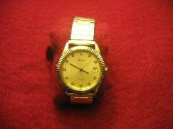 pre owned mens belair gold tone quartz 3 atm water resistant pre owned mens belair gold tone quartz 3 atm water resistant diamond dial watch