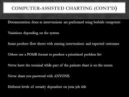 Nursing Charting Systems Documentation Of Nursing Care Ppt Video Online Download