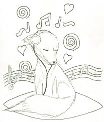 Music fox coloring page by FancyNinjaCat on DeviantArt