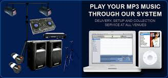 sound and audio equipment hire packages for discos