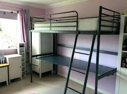 ikea bunk bed frame loft instructions with desktop silver