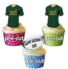 Cake Toppers Precut South Africa Rugby Shirts Edible Cupcake Toppers