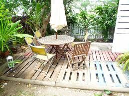 Terrasse De Jardin Avec Palette