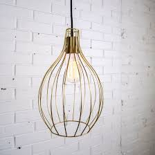 new gold wire pendant light