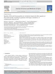 pdf effects of an aquatic based exercise program to improve cardiometabolic profile quality of life and physical activity levels in men with type 2