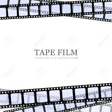 Film Template For Photos Realistic Illustration Of Film On White Background Template