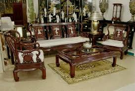 wooden living room furniture. Classic Wooden Sofa Set Designs For Small Living Room With Dark Brown Colors Furniture