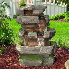 Garden Fountain Astonishing Solar Outdoor Fountains Solar