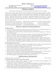 Sample Business Analyst Resume Business system analyst resume samples 59