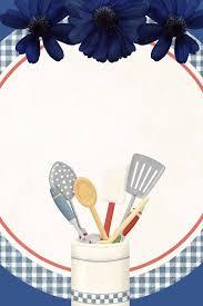 Household Necessities Kitchen Utensils Cool Blue Background Behind