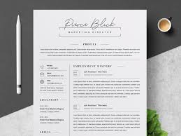 Modern Resume How Far Back Work History Clean Resume Cv Template By Resume Templates On Dribbble