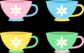 cute tea cup clipart. Beautiful Cute Set Of Four Cute Pastel Tea Cups  Free Clip Art To Cup Clipart
