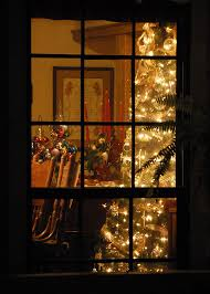 Bay Window In Living Room For Christmas Tree  Dream Home Christmas Tree In Window