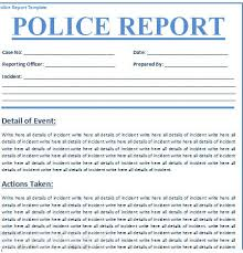 Police Report Template Microsoft Word Free Download