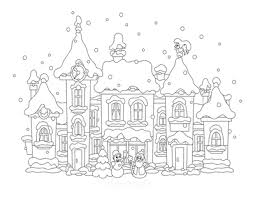 A village on a starry night. 80 Best Winter Coloring Pages Free Printable Downloads