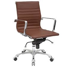 eames ribbed chair tan office. Poly And Bark Ribbed Mid Back Office Chair In Vegan Leather, Terracotta Eames Tan D