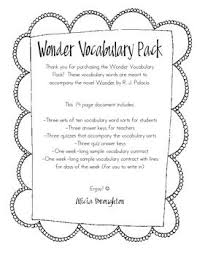 wonder by r j palacio voary pack