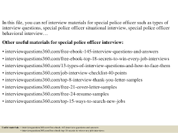Police Interview Questions And Answers Top 10 Special Police Officer Interview Questions And Answers