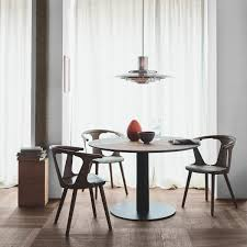 Tradition In Between Table Sk11 ø 90 Cm Oak Black Lacquered