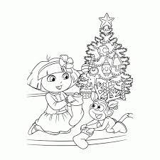 Kleurplaat Dora Kerst