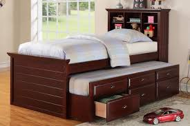 kids twin beds with storage. F9220 Dark Cherry Kids Bookcase Twin Bed Storage Trundle Drawer Beds With Y