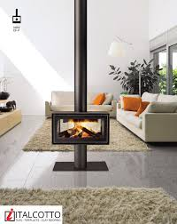 Modern Wood Burner Fireplace Designs Floor Standing Double Sided Wood Burning Fireplace From