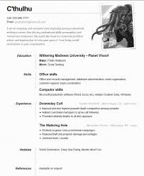 c thulhu one page resume ← open resume templates cthulhu