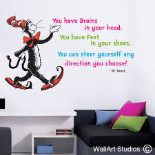 dr suess wall art decal the more that you read custom wall art
